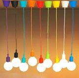 Силикон просторной квартиры штанги Lemonbest самомоднейший вися гнездо E27 держателя тени светильника светлого потолка приспособления DIY гнезда привесное светлое (зеленый цвет)