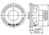 altavoz de 4ohm 2W 40m m para el monitor del LCD de la impresora de la cámara de opinión trasera del GPS de los receptores de cabeza