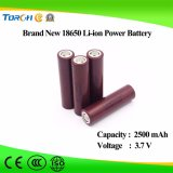 Batteria ricaricabile 3.7V 2500mAh dello ione aa 18650 del Li di piena capacità