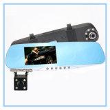Carro azul DVR do gravador de vídeo de Dashcam do espelho de Rearview da visão noturna auto