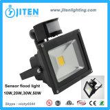 Luz de inundación del LED con la luz de inundación del sensor de movimiento del sensor 10W LED 10-50W, reflector, luz al aire libre