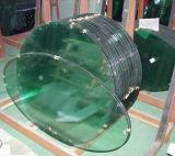 、円形の長方形、曲げられたダイニングテーブルガラス楕円形