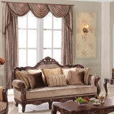 Il sofà classico del tessuto con la Tabella di legno ha impostato per il salone