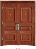Diseño doble exterior de la puerta del acero inoxidable