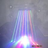 8つのヘッドDJはレーザーの照明を上演する