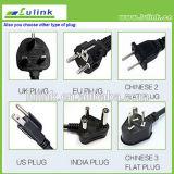 socket de potencia universal dual del USB del enchufe BRITÁNICO largo de los 2m, socket de la extensión con salida del USB 2