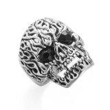 VAGULA 2 Ring van de Vinger van de Schedel van Zircon van Kleuren de Uitstekende Zilveren