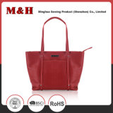 Red Multi-Pocketed Ladies Bag Sacola de couro Bolsa para revista
