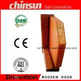 Portello scorrevole di legno con legno solido verniciato