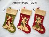 Longue décoration debout à jambes de Noël de bonhomme de neige de Santa, -3asst.