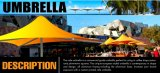 Hot Sale 4X4m White Big Cafe Umbrella for Outdoor