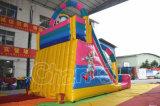 Il tema del castello del pagliaccio di circo gonfiabile asciuga la trasparenza per il parco di divertimenti