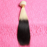 Ombreのブラジルの毛の拡張は12-30インチ暗闇のルート1b 613ブロンドのバージンの毛8Aの等級のOmbreの人間の毛髪の束を漂白する