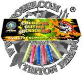 60 Sec. Glitter coloridos fuegos artificiales pegajosos