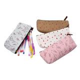 Belle trousse d'écolier imperméable à l'eau/sacs cosmétiques de monture filtre de poche de papeterie de trousse d'écolier de crayon lecteur de toile sac de crayon, ensemble de 4