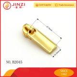 Goldfarben-Zink-Legierungs-Reißverschluss-Schweber-Metallreißverschluss-Abzieher für Handtasche anpassen