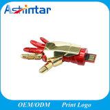 Disque USB imperméable à l'eau Pendrive de flash USB en métal de doigts