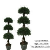 Hot Sale Decoration Artificial Plastic Topiary Tree Bonsai