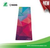 Estera caliente de la yoga de Microfiber de la venta con el forro del caucho natural