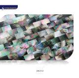 Mosaico nacarado del diseño del negro del labio del shell de lujo de la fregona para la pared de la decoración