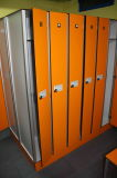 WoodgrainフェノールHPLの体操の更衣室のロッカー