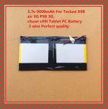Aria 3G P98 3G, qualità perfetta della batteria di litio del polimero 9000mAh 3.7V Teclast X98 del collegare della batteria 3 del PC del ridurre in pani di Chuwi V99I