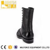 黒く完全な穀物牛革安全靴のDMSの軍の戦術的な戦闘用ブーツ