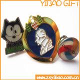 Pin morbido su ordinazione Bagde dell'oro dello smalto per i regali promozionali (YB-Lp-60)