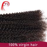 Preiswerte brasilianische Jungfrau-menschlicher verworrener lockiges Haar-Einschlagfaden