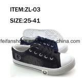 Zapatos ocasionales del deporte de la inyección de los zapatos de lona del nuevo diseño (ZL1217-2)