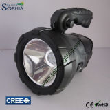 Nieuwe 5W CREE LED Solar Flashlight Charge door Sun DC12V of 100-240VAC