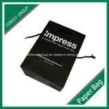 包装および買物をすることのためのマットの黒く小さい紙袋