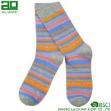 2017 calcetines lindos del algodón de las rayas de las mujeres