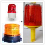 Luz de sinal de advertência psta solar da barricada da segurança do diodo emissor de luz