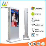 55 Zoll-Fußboden, der im FreienScreen-Kiosk für das im Freien LCD Bekanntmachen (MW-551OE, steht)