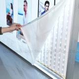 Forme en aluminium de matériau et de grand dos annonçant le cadre léger de tissu