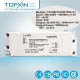 TUV-Ce/CB/SAA 30 W 1000mA regulou a fonte de alimentação constante do diodo emissor de luz da corrente do excitador do diodo emissor de luz da fonte de alimentação