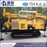 Tipo da esteira rolante de Hfw200L ou equipamento Drilling montado caminhão de poço de água
