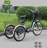 Les pédales ont aidé le tricycle électrique de cargaison pour le sureau