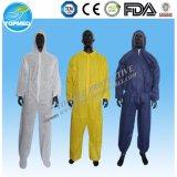 Combinação do trabalhador descartável da venda quente, combinação resistente do petróleo protetor