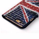 Ultra dünner PU-Leder-Kippen-Telefon-Kasten für iPhone6