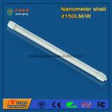 luz del tubo 18W del shell 1200m m del nanómetro 150lm/W con 3 años de garantía