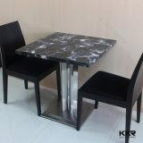 人工的な大理石パターンダイニングテーブル、レストランのダイニングテーブル