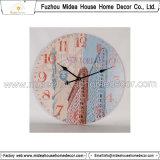 高品質の旧式な柱時計(Dia=30cm)