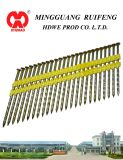 "21 Grado, 3-1 / 4"" X 120"" Framing Nails, anillados brillante plástico Strip Nails"