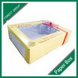 Caixa de empacotamento de Cardbaord da cereja fresca com o indicador desobstruído do PVC