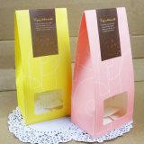 Sacs en papier personnalisés de conditionnement des aliments d'impression Papier d'emballage avec la vente en gros claire de guichet