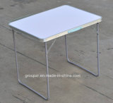 Pliage, aluminium, extérieur, table de camping