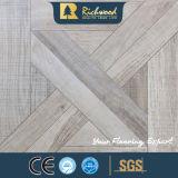 Il teck di struttura della venatura del legno dell'annuncio pubblicitario 8.3mm ha incerato la pavimentazione laminata orlata