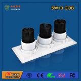 Alumínio 2700-6500k 15W LED Grille Light para Fashion Shop
